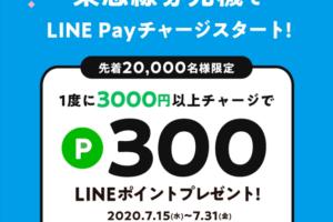 東急線券売機からLINE Payチャージで300ポイントゲットキャンペーン