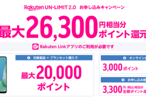 Rakuten UN-LIMIT 2.0 お申し込みキャンペーン
