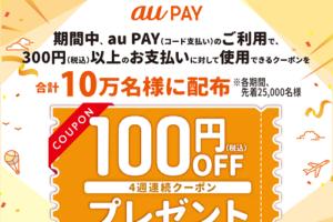 デイリーヤマザキ × au PAY 100円OFFクーポン キャンペーン
